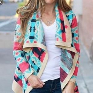 Moon Collection Boho Aztec Tribal Cardigan Sweater